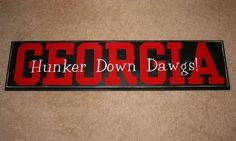 GEORGIA or BAMA Wooden Decorative Board by janaitwct on Etsy, $25.00