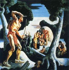 Thomas Hart Benton was an American painter and muralist. Along with Grant Wood and John Steuart Curry, he was at the forefront of the Regionalist art movement. American Realism, American Artists, Mural Painting, Mural Art, Thomas Hart Benton Paintings, American Scene Painting, Social Realism, Grant Wood, Arts Integration