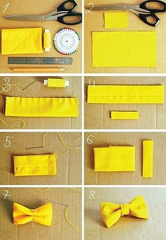 CasualCrafter - Page 2 of 3 - Easy DIY Crafts ideas, creative Do It Yourself Ideas. Make A Bow Tie, How To Make Bows, Diy Baby Headbands, Diy Hair Bows, Dog Bows, Baby Bows, Fabric Bows, Ribbon Bows, Bow Tie Tutorial