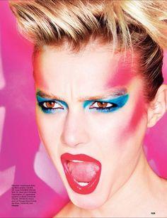 Super-Make-up Glam-Rock Inspiration 20 Ideen 1980 Makeup, 80s Makeup Looks, Retro Makeup, Vintage Makeup, Glam Makeup, Hair Makeup, Makeup Style, Eye Makeup, Make Up Looks