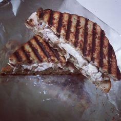 Chicken and Dressing Panini Sandwich