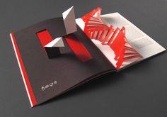 Pages as sculptures. Design by Albuquerque Editor: Patrícia Reis Photo: Onshot Estúdio  Portefólio Magazine #5 Fundação Eugénio de Almeida.  #design #communicationdesign #editorialdesign #origami #printing #art #red #paperworks #magazine #albuquerque
