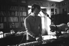 """msyorke: """" Thom Yorke in the studio recording """"A Moon Shaped Pool"""" """""""