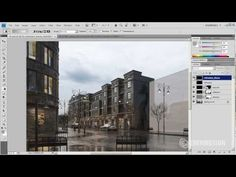 Postproduction of 3d scene in Adobe Photoshop - Tip of the Week - YouTube
