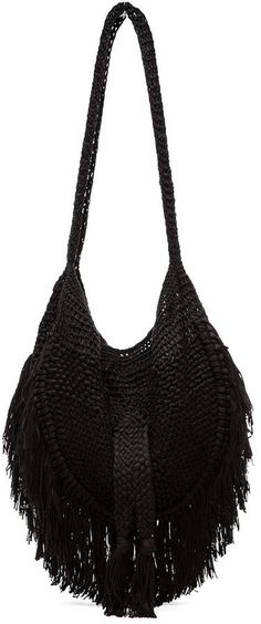 Indah Seasame Hand Crochet Fringe Bag on shopstyle.com