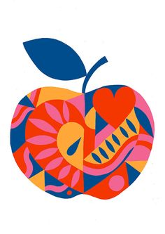 Apple Heart limited edition signed giclee print by AliceStevo