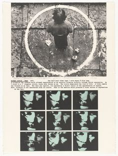 """Dennis Oppenheim: Rocked Circle - Fear. 1971. From """"Projects"""" by Dennis Oppenheim, 1973, a portfolio of ten lithographs. Dimensions: composition: 29 5/8 x 19 3/16"""" (75.2 x 48.7 cm); sheet: 30 1/16 x 22 3/8"""" (76.3 x 56.8 cm). The Associates Fund. Collection Museum of Modern Art, New York. Copyright: © 2014 Dennis Oppenheim."""