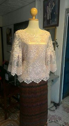 Super dress brokat putih 15 Ideas Source by brokat Kebaya Lace, Kebaya Hijab, Batik Kebaya, Kebaya Dress, Kebaya Muslim, Batik Dress, Lace Dress, Kebaya Modern Dress, Model Kebaya Brokat Modern