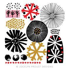 Snowflakes by Jocelyn Proust