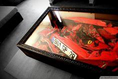 Crashed Ferrari Coffin Table Idea ❥❥❥ http://bestpickr.com/cool-unique-coffee-tables-unusual-ideas