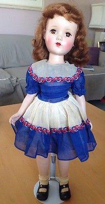 """Vintage R B Arranbee Nanette Walker 20"""" Doll with Original Dress Undies Shoes"""