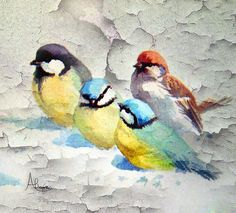 Water color Little Birds