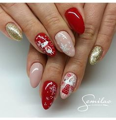 In order to inspire you to make Santa Christmas nail designs, we have specially collected 42 images of Santa Christmas nail art. Fancy Nails, Cute Nails, Pretty Nails, Cute Christmas Nails, Xmas Nails, Santa Christmas, Christmas Decor, Holiday Nail Art, Christmas Nail Art Designs
