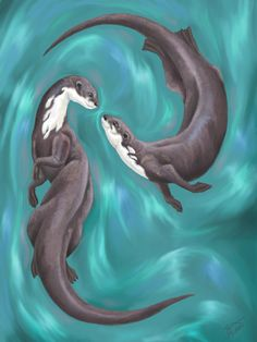 Otters by NekoKawaiiNya.deviantart.com on @deviantART