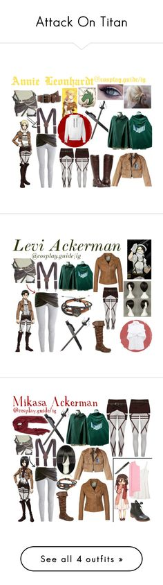 """Attack On Titan"" by consultingpolyvorer ❤ liked on Polyvore"