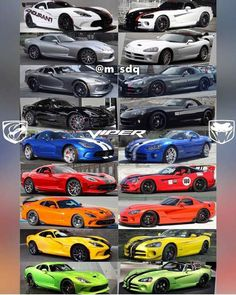 (Dodge Viper) > weird, I actually like the neon green color Viper Gts, Dodge Viper, Viper 2017, Pit Viper, My Dream Car, Dream Cars, Custom Muscle Cars, Exotic Sports Cars, Transporter