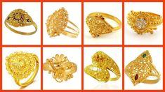 #rings #goldrings #puregoldrings #floralshapegoldrings #simplgoldrings Gold Diamond Rings, Gold Rings, L Shape, Flora, Pure Products, Bridal, Beautiful, Jewelry, Women
