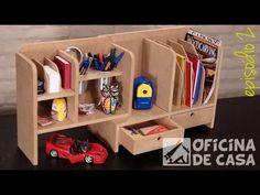 Organizador para mesa de escritório ou estudo – Ep.02   Oficina de Casa