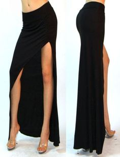 Cheap Skirts, Buy Directly from China Suppliers: Taking a wardrobe staple with a classic silhouette and giving it a sultry spin, this Gray maxi skirt delivers a lo Grey Maxi Skirts, Gray Maxi, Black White Striped Dress, Cheap Skirts, Tight Dresses, Well Dressed, Casual Wear, Sexy Women, Clothes For Women