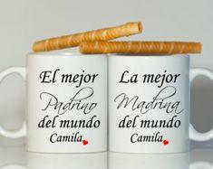 Español padrino MADRINA o PADRINO tazas padrinos por BabyCakeLane