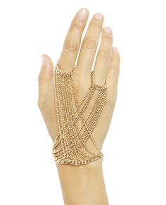Criss Cross Chain Hand Jewelry from Wet Seal