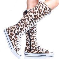 Leopard Print converse boots.