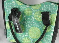 Cynthia Rowley NY Insulated Lunch Cooler Bag Emerald Medallion Vine