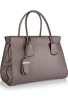 Tod's | Note medium textured-leather tote | NET-A-PORTER.COM