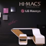 HI-MACS® shows Agata Desk designed by Fabrizio Russo and fabricated by Marco Arena Design (Italy) at 100% Design