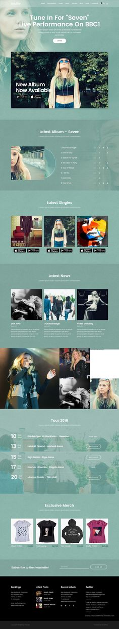 Shuffle is beautifully design popular #WordPress #theme for #singer #musician music industry website with 18+ genre specific skins homepages download now➩ https://themeforest.net/item/shuffle-allpurpose-music-theme-with-genrespecific-skins-homepages/18281364?ref=Datasata