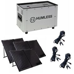 Humless 1500 Series 1.3 kWh Solar Generator (100AH) Bundle 3 Panel