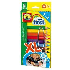 SES Creative Farveblyanter, Mine første farveblyanter - 8 stk. - 44,95 kr.