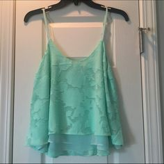 Gorgeous mint colored top from Dainty Hooligan Love this top from Dainty Hooligan Boutique! The mint color is stunning. This was never worn. Dainty Hooligan Tops Tank Tops