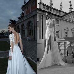 Sexy Italian Wedding Dresses | new-sexy-v-neck-wedding-dresses-long-sleeve-sheer-lace-backless-slit ...