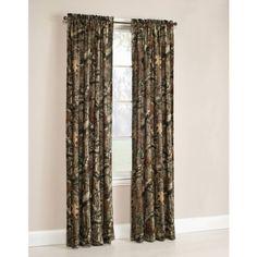 Mossy Oak Break-Up Infinity Camouflage Print Window Curtain Panels