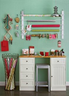 See how to easily organize all your craft room supplies with these DIY ideas.