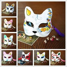 8Pcs Japanese Babymetal Kitsune Hand Painted Paper Fox Mask Halloween Masquerade