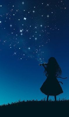 Play the Starry Sky (Unable to find Artist) Music melody violin piano guitar music art illustration photography music instrument anime Piano Art, Art Anime, Anime Scenery, Galaxy Wallpaper, Belle Photo, Night Skies, Cute Wallpapers, Illustration, Fantasy Art