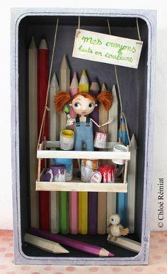 boîte mes crayons hauts en couleurs etsy 1
