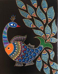 Madhubani dot painting