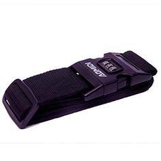 Aomidi Luggage Strap 3 Digit Combination Luggage Straps Suitcase Belt (BLACK)