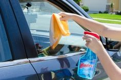 Roll down windows to clean the top edge with Windex.