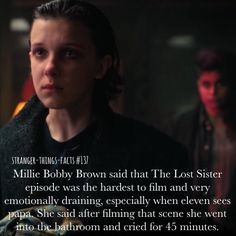 Stranger things facts Millie Bobby brown