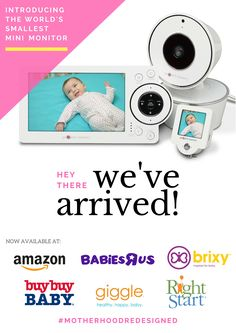 The Project Nursery Baby Monitor featuring the world's first mini-monitor is now available at retailers nationwide! #babygear