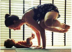 These mom and baby yoga duos don't let anything get in the way of their om.