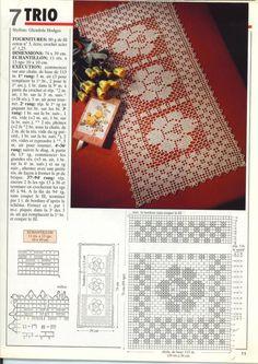 "Photo from album ""Tricot Selection Crochet d'Art o Filet Crochet Charts, Crochet Stitches Patterns, Thread Crochet, Crochet Designs, Crochet Squares, Crochet Motif, Crochet Shawl, Crochet Doilies, Crochet Tablecloth"