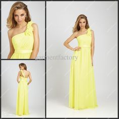 Lemon bridesmaid dresses in this sort of design - maybe knee length instead of full for a wedding abroad though!