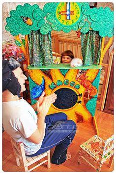 """Купить (09)Кукольный театр """"у Лукоморья"""" - кукольный театр, ширма для представлений, театр, куклы High School Art, Middle School Art, Toy Theatre, Puppet Show, School Decorations, Arts Ed, Camping Crafts, Funny Games, Elementary Art"""