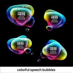 Colourful speech bubbles Free Vector