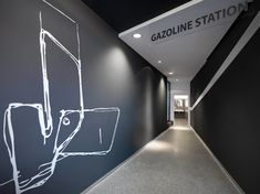 Gazoline Petrol Station Design by Damilano Studio Architects - Architecture & Interior Design Ideas and Online Archives Commercial Architecture, Interior Architecture, Interior Design, Boutiques, Resorts, Hotel Corridor, Entry Stairs, Filling Station, Hospitality Design